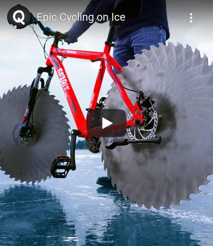 Le vélo sur glace